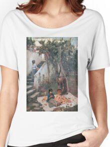 John William Waterhouse - The Orange Gatherers . Garden landscape: garden view, trees and flowers, blossom, nature, botanical park, floral flora, wonderful flowers, plants, cute plant, garden, flower Women's Relaxed Fit T-Shirt