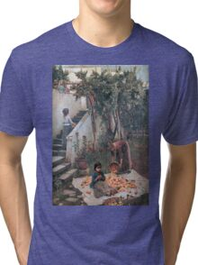 John William Waterhouse - The Orange Gatherers . Garden landscape: garden view, trees and flowers, blossom, nature, botanical park, floral flora, wonderful flowers, plants, cute plant, garden, flower Tri-blend T-Shirt
