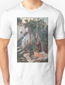 John William Waterhouse - The Orange Gatherers . Garden landscape: garden view, trees and flowers, blossom, nature, botanical park, floral flora, wonderful flowers, plants, cute plant, garden, flower Unisex T-Shirt