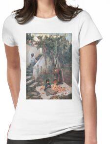 John William Waterhouse - The Orange Gatherers . Garden landscape: garden view, trees and flowers, blossom, nature, botanical park, floral flora, wonderful flowers, plants, cute plant, garden, flower Womens Fitted T-Shirt