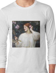 John William Waterhouse - Vanity.  Woman portrait: sensual woman, girly art, female style, pretty women, femine, beautiful dress Long Sleeve T-Shirt