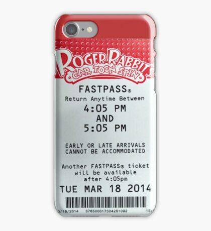 Roger Rabbit's Cartoon Spin Fastpass iPhone Case/Skin