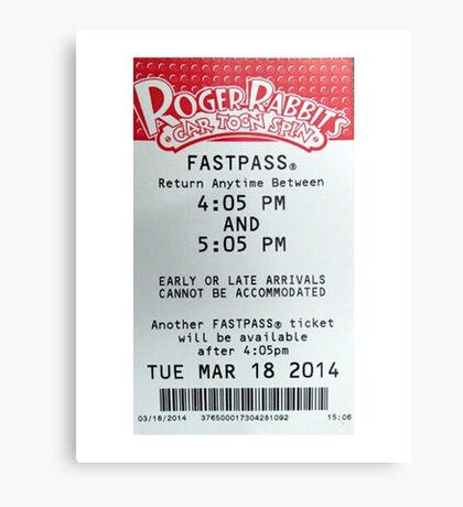 Roger Rabbit's Cartoon Spin Fastpass Metal Print