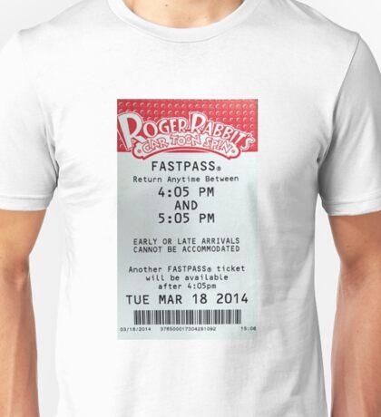Roger Rabbit's Cartoon Spin Fastpass Unisex T-Shirt