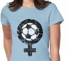 Frauenfußball zweifarbig Womens Fitted T-Shirt