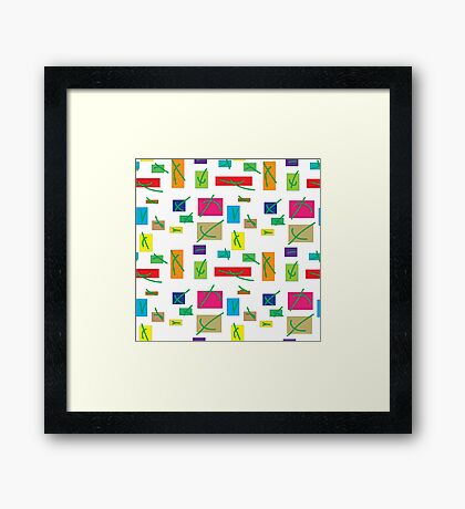 Abstract background White Framed Print