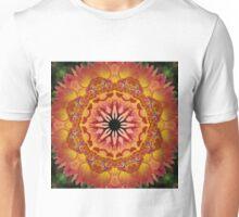 Apricot and peach dahlia mandala Unisex T-Shirt