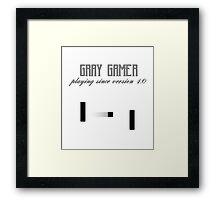Gray Gamer Framed Print