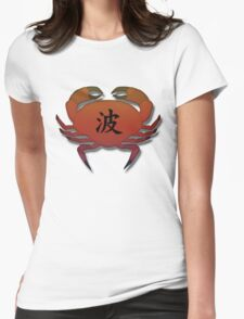 Japanese, Crab design  Womens Fitted T-Shirt