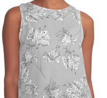 Abstract background of flowers Contrast Tank