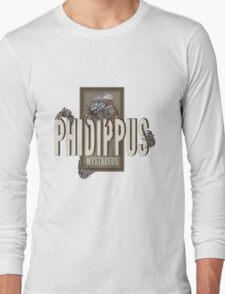 "Phidippus Mystaceus Jumping Spider ""Scrumpy"" Tribute Long Sleeve T-Shirt"