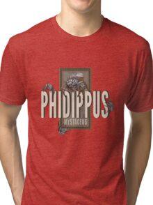 "Phidippus Mystaceus Jumping Spider ""Scrumpy"" Tribute Tri-blend T-Shirt"