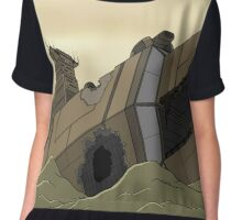 Rusty Toothed Wreck  Chiffon Top