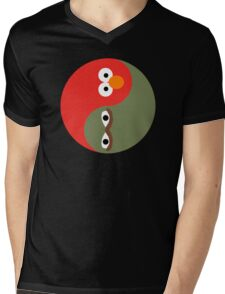 Yin and Yang on the Street Mens V-Neck T-Shirt