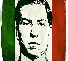 Lucky Luciano Italy Flag by LuckyJoe
