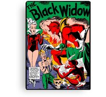 Black Widow Comic Page Canvas Print