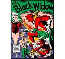 Black Widow Comic Page Photographic Print