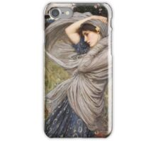 John William Waterhouse - Boreas . Woman portrait: sensual woman, girly art, female style, pretty women, femine, beautiful dress, cute, creativity, love, sexy lady, erotic pose iPhone Case/Skin