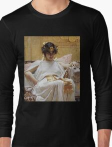 John William Waterhouse - Cleopatra . Woman portrait: sensual woman, girly art, female style, pretty women, femine, beautiful dress, cute, creativity, love, sexy lady, erotic pose Long Sleeve T-Shirt