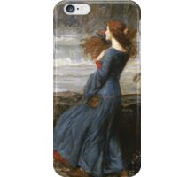 John William Waterhouse - Miranda - The Tempest  . Sea landscape: sea view, naval yachts, navy holiday, sailing boat, coast seaside, beach, marin, seascape, sun clouds, nautical panorama, ocean iPhone Case/Skin