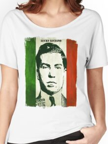 Lucky Luciano Italy Flag Women's Relaxed Fit T-Shirt