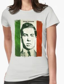 Lucky Luciano Italy Flag Womens Fitted T-Shirt