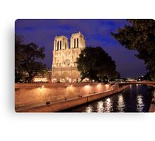 Brilliant Notre Dame from the River Canvas Print