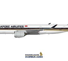 Illustration of Singapore Airlines Airbus A350 by © Steve H Clark
