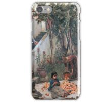 John William Waterhouse - The Orange Gatherers . Garden landscape: garden view, trees and flowers, blossom, nature, botanical park, floral flora, wonderful flowers, plants, cute plant, garden, flower iPhone Case/Skin