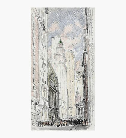 Joseph Pennell - The New York Stock Exchange. Urban landscape: city view, streets, building, house, trees, cityscape, architecture, construction, travel landmarks, panorama garden, buildings Photographic Print