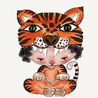 My Favourite Animal is a Tiger - Throw Pillow by Beatrice  Ajayi