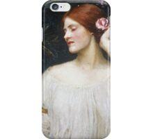 John William Waterhouse - Vanity.  Woman portrait: sensual woman, girly art, female style, pretty women, femine, beautiful dress iPhone Case/Skin