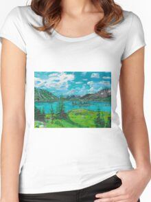 Grizzly Lake  Women's Fitted Scoop T-Shirt