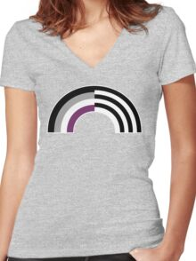 Hetero-asexual Women's Fitted V-Neck T-Shirt