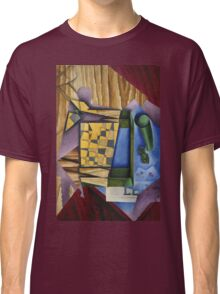 Juan Gris - Backgammon. Abstract painting: abstract art, geometric, expressionism, composition, lines, forms, creative fusion, spot, shape, illusion, fantasy future Classic T-Shirt