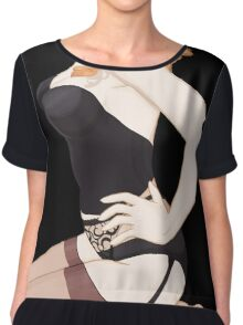 Vintage Pin up Girl - Sexy Lingerie Chiffon Top