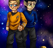 Kirk, Spock and some Tribbles by UrbanReaper