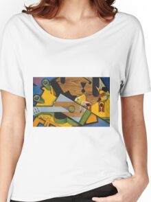 Juan Gris - Still Life With A Guitar. Abstract painting: abstract art, geometric,  Guitar, composition, lines, forms, creative fusion, spot, shape, illusion, fantasy future Women's Relaxed Fit T-Shirt