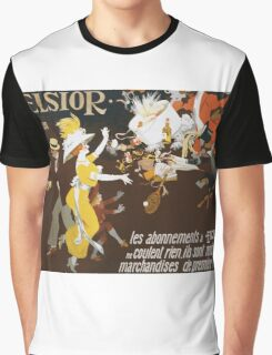 Jules Alexander Grun - Excelsior Poster. People portrait: party, woman and man, people, family, female and male, peasants, crowd, romance, women and men, city, home society Graphic T-Shirt
