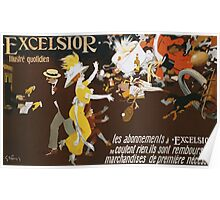 Jules Alexander Grun - Excelsior Poster. People portrait: party, woman and man, people, family, female and male, peasants, crowd, romance, women and men, city, home society Poster