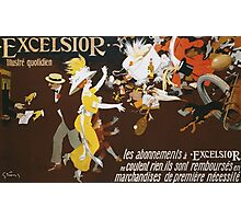 Jules Alexander Grun - Excelsior Poster. People portrait: party, woman and man, people, family, female and male, peasants, crowd, romance, women and men, city, home society Photographic Print