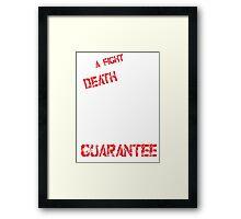 THE DEATH KID Framed Print