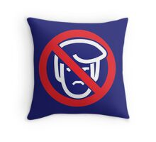 Say No To Grump (reverse) Throw Pillow