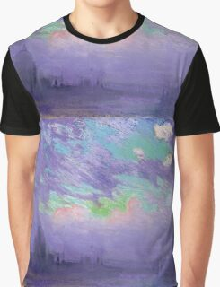 Joseph Pennell - Green, Blue And Purple (London View). Urban landscape: city view, streets, building, View Of London, trees, cityscape, architecture, construction, travel, panorama garden, buildings Graphic T-Shirt
