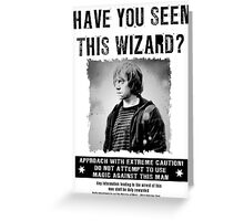Wanted - Ron Weasley Greeting Card