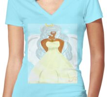 The Angel Women's Fitted V-Neck T-Shirt