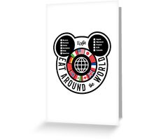 Eat Around the World - EPCOT checklist Greeting Card