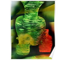 Ghostly Vases in sunlight Poster