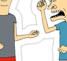 Beavis and Butthead argument Sticker