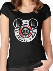 Eat Around the World - EPCOT checklist Women's Fitted Scoop T-Shirt
